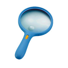 NO.9986E Large Lens Hand Hold Magnifying Glass with 3 LED Lights