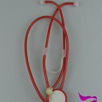 Doctor Uniform Red Stethoscope Toy Stethoscope
