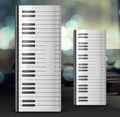 Piano design stylish compact bright LED lights power bank