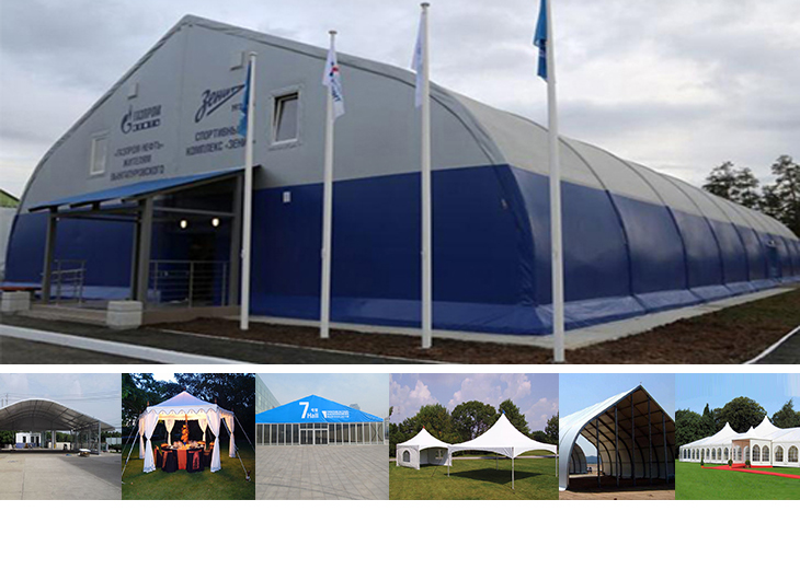 huge durable strong curve tent for aircraft hangar, carport, sport