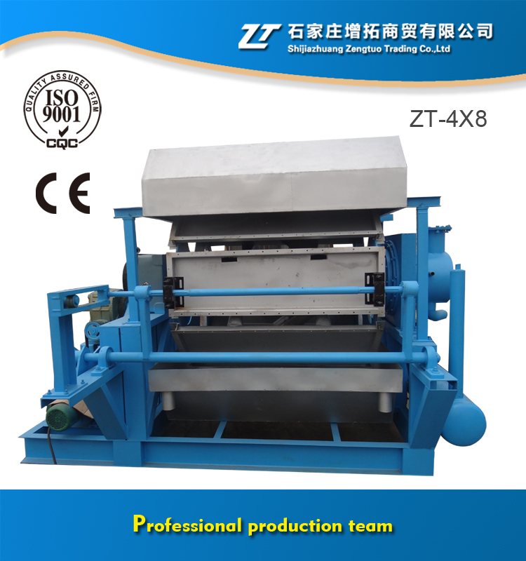 3000- 6000 pcs / h Automatic Egg Tray Machines ZT 4X8 Blue Color Operated Easily