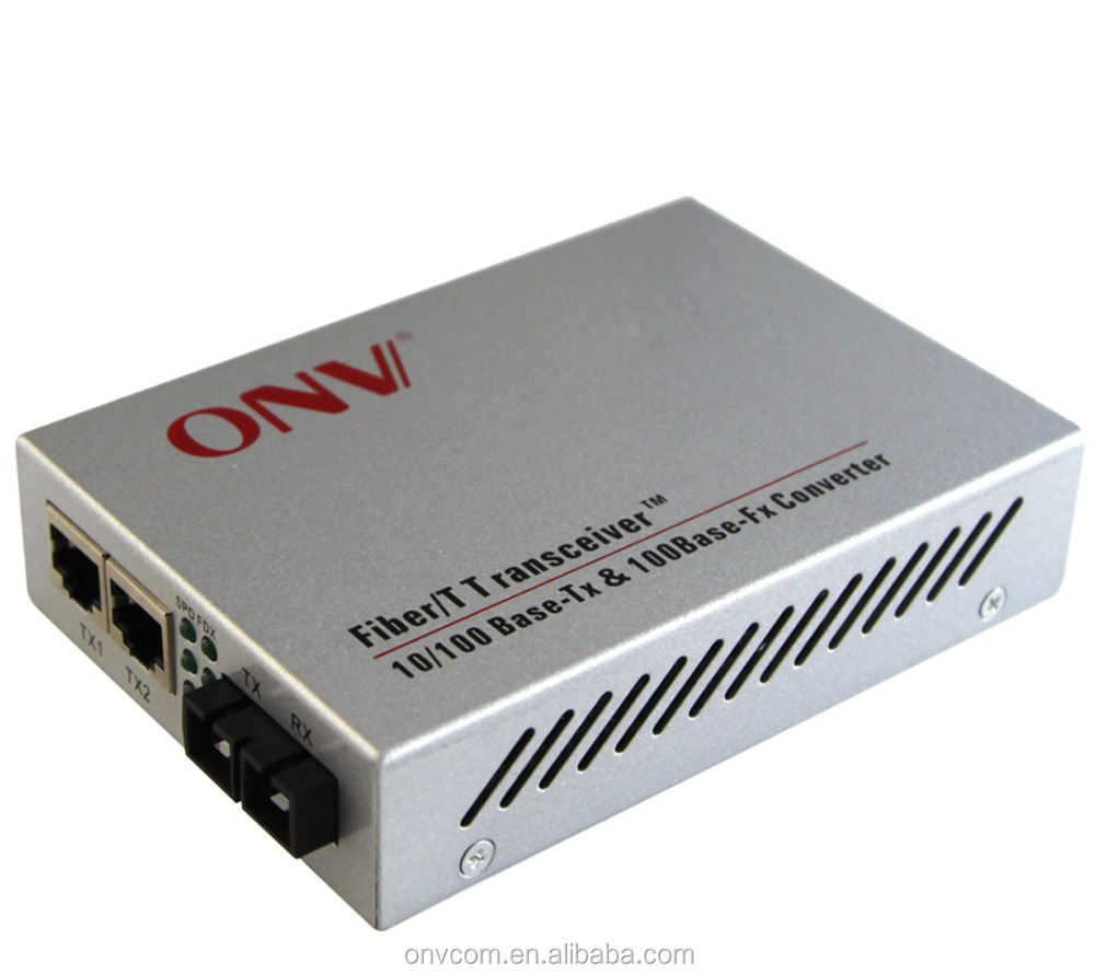 10/100M 2 Port Single Mode Dual Fiber optical Media Converter