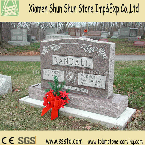natural American style garden tombstone/gravestone/headstone