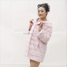 Ladies' Pink Coat Latest Design Women's Coat Mink Fur Coat
