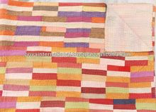 cotton blankets Handmade Patchwork Quilt Set Cotton Blanket With Pillow & Cushion Covers