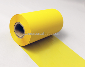 Yellow TTR resin ribbon for barcode printer