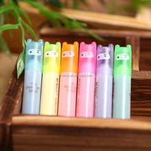 wholesale Best promotion gift DIY creative stationery Novelty kid short highlighter water color marker pen mini nite writer pen