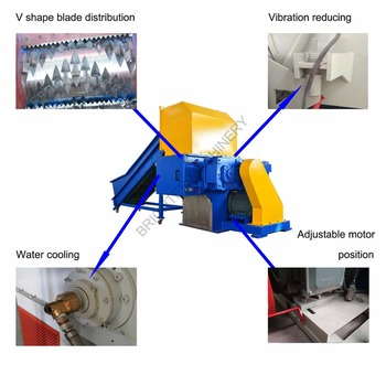 single shaft plastic chipper