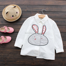 Wholesale white color animal pattern shirts baby girl tops