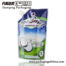 China suppliers DQ PACK coconut cooking oil plastic doypack for liquid packaging