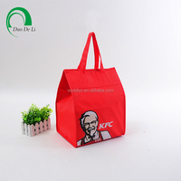 Custom printed fast food takeaway cooler bag