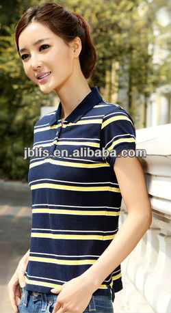 2013 summer fashion women's stripe polo shirt