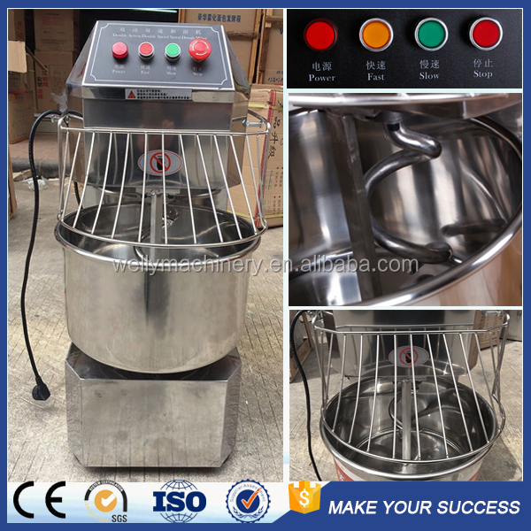 Low price high quality double speed capacity 8kg~50kg spiral dough mixer for sale