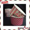 Wholesale Disposable Paper Polka Dot/Stripe 130ml Ice Cream Cups