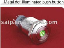 2011 NEW Metal Dot Illuminated Push Button Switch,doorbell push button switch