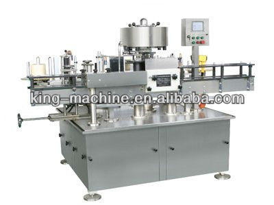 Automatic Wet Glue Sticker Glass Bottle Labeling Machine / Machinery / Equipment KING MACHINE