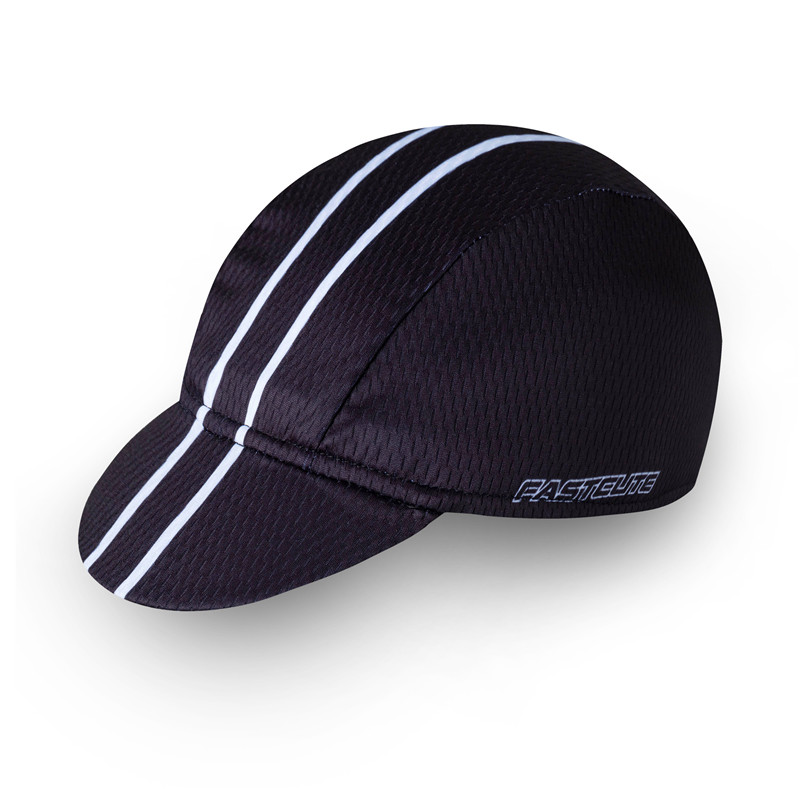 black coolmax sublimation printing cycling cap runing caps sports hat outdoor quick dry material