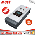MUST hot sale 12V/24V/48V 80A solar charger controller MPPT manual with USB Port