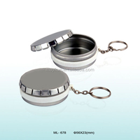 Wholesales 4C printed round mini pocket ashtray