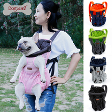 Doglemi Front Chest Outdoor Mesh Pet Dog Cat Carrier Backpack Bag