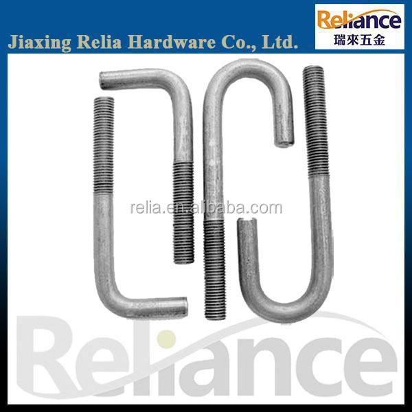 White Zinc Plated J Type Anchor Bolt