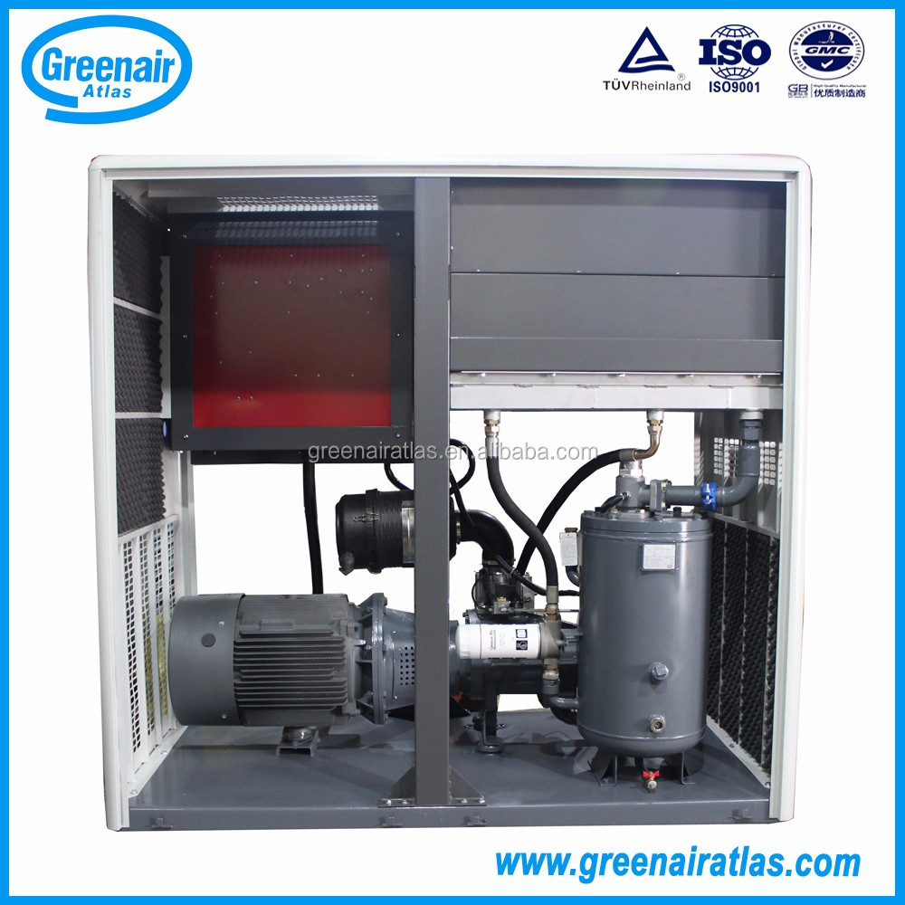 Greenair atlas direct drive atlas copco ga37 oil injected industrial 50hp screw air compressor rotary compressor