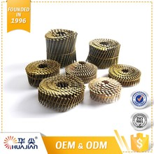 Quality Assured Screw Nail Bright Color 15 Degree Pallet Wire Welded Dome Head Twisted Coil Nail