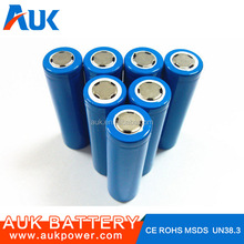 Wholesale Li-ion 18650 Battery 3.7v 2000mah Rechargeable AUK Battery For Electric Toys