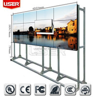 indoor advertising lcd video wall floor stand