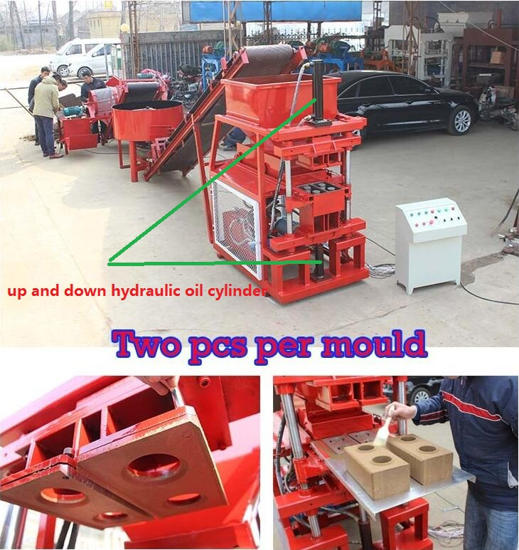 Cement clay soil brick making machine HBY2-10 (Reliable factory sell directly )