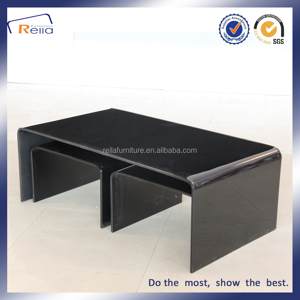 Tempered Bent Glass Centre Table