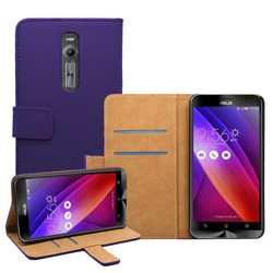 Top Selling Luxury PU Leather back covers Wallet Case With Card slot for Asus Zenfone 2