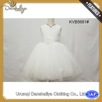 lovely / nice / fashion / beautiful / white lace flower girl dress