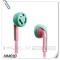 China supply cheap pink, red oem earphone headphone for mobile phone, mp3