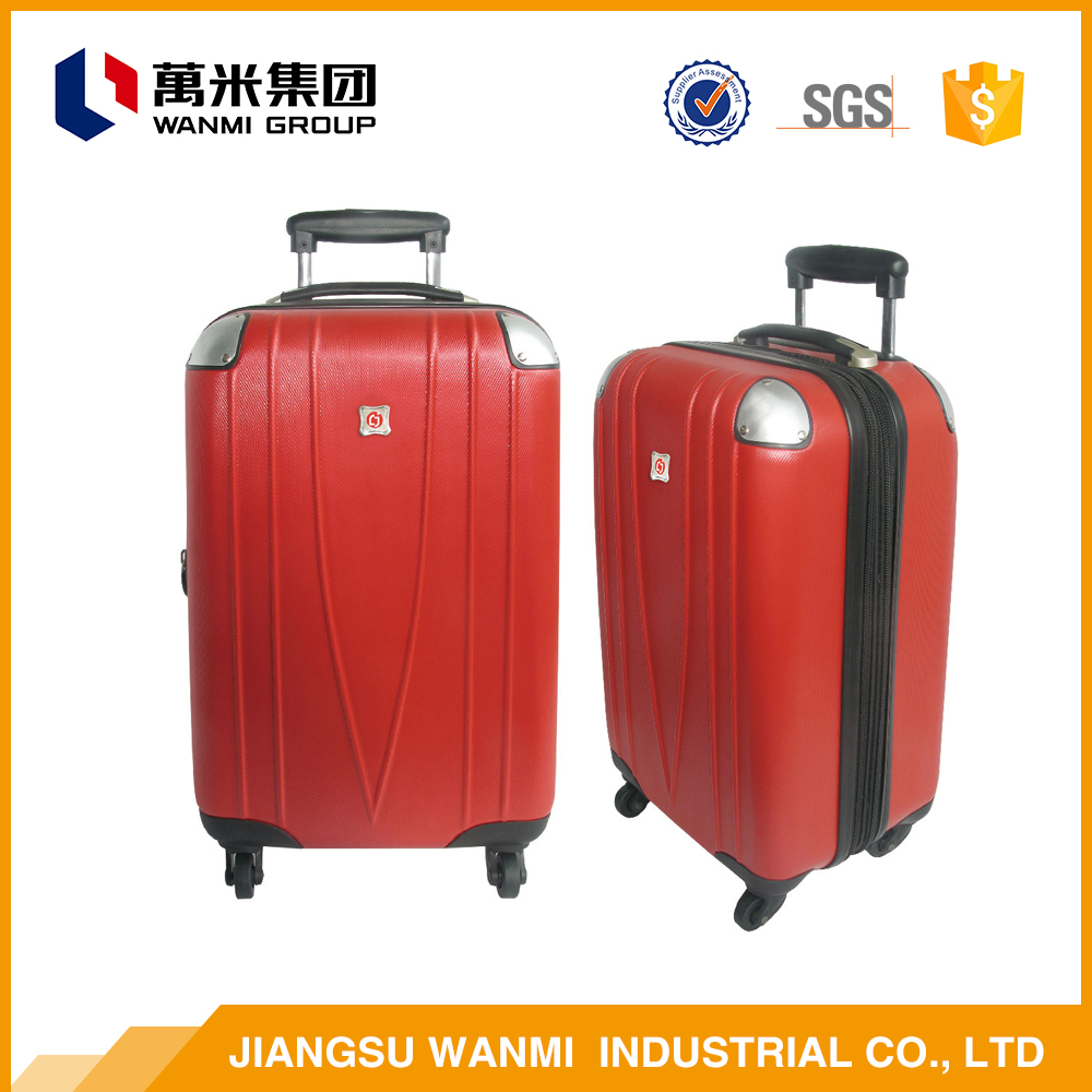 New China supplier safe abs travel rolling luggage bag sets