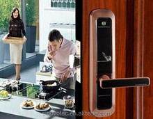 Intelligent Keyless sliding smart door lock for hotel/home/office