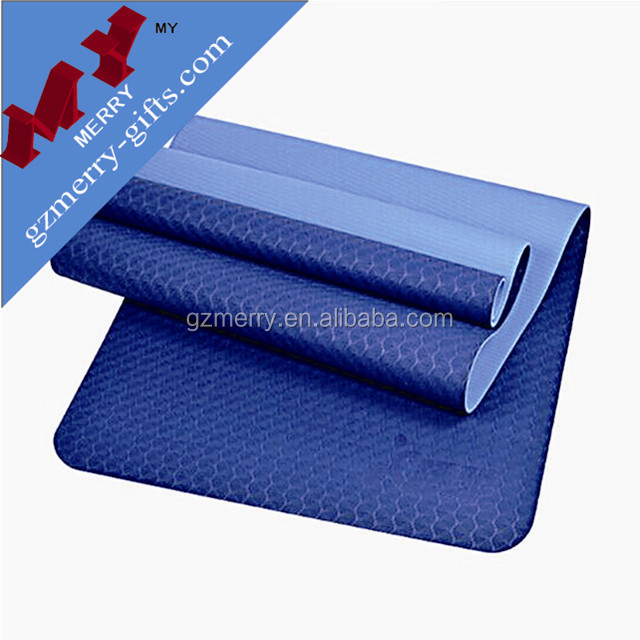 Guangzhou factory durable 6mm yoga mat tpe / custom yoga mat