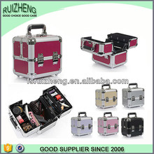 Aluminum professional makeup case custom cosmetic train case