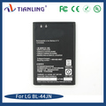 High efficient rechargeable mobile phone battery 1600mah 3.7V BL-44JN for LG