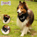 Hot Sale Fashion Rhinstones Paw Bone Skull Pet Dog Scarf Dog Bandana