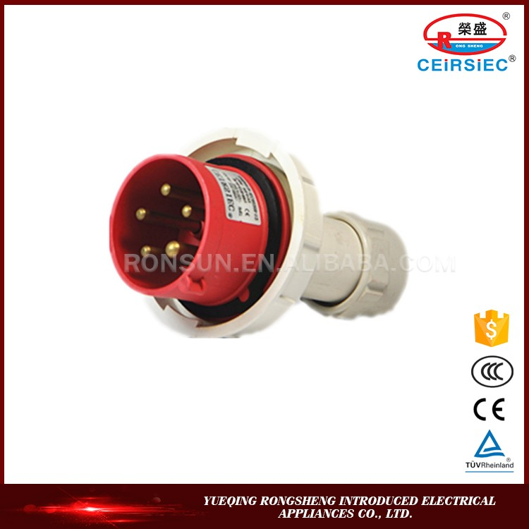 High Quality 16A 3P+N+E IP44 hollow industrial plug insert