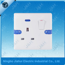 JHE8913SL Good Quality British Standard 3 Pin 13A 1 Gang Electric Wall Switched Socket Wall Socket Outlet with Neon