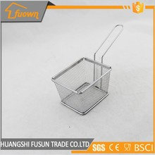 Stainless steel mesh strainer french fries frying basket kitchen tools