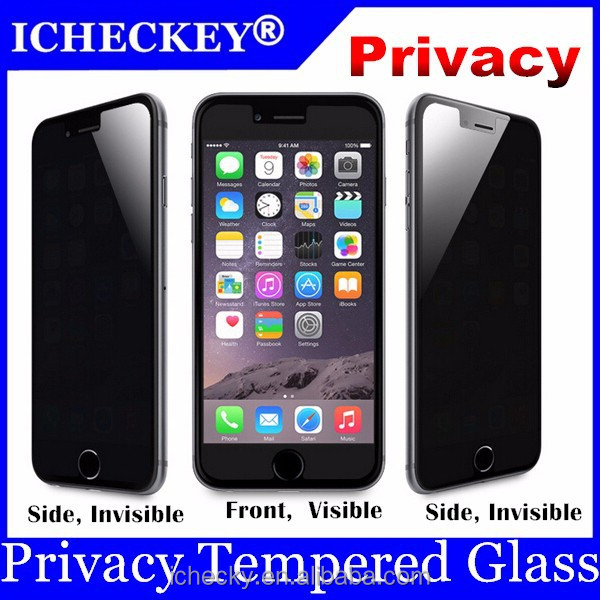 tempered glass privacy screen protector for iphone6 and iphone 6 plus with 9h hardness 2.5D