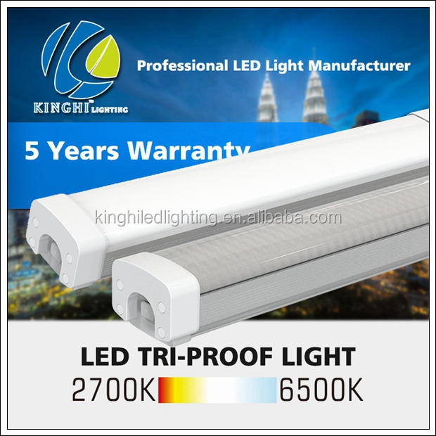 High lumen IP66 led tri-proof light 20W led lamps 2ft waterproof fluorescent tubes