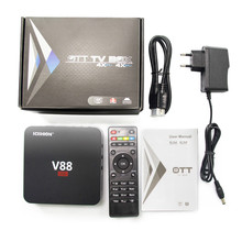 V88 RK3229 Caixa de TV inteligente Android 5.1 Filmon / NETFLIX Totalmente carregado TVS Media Player 10M / 100M iptv adroid tv