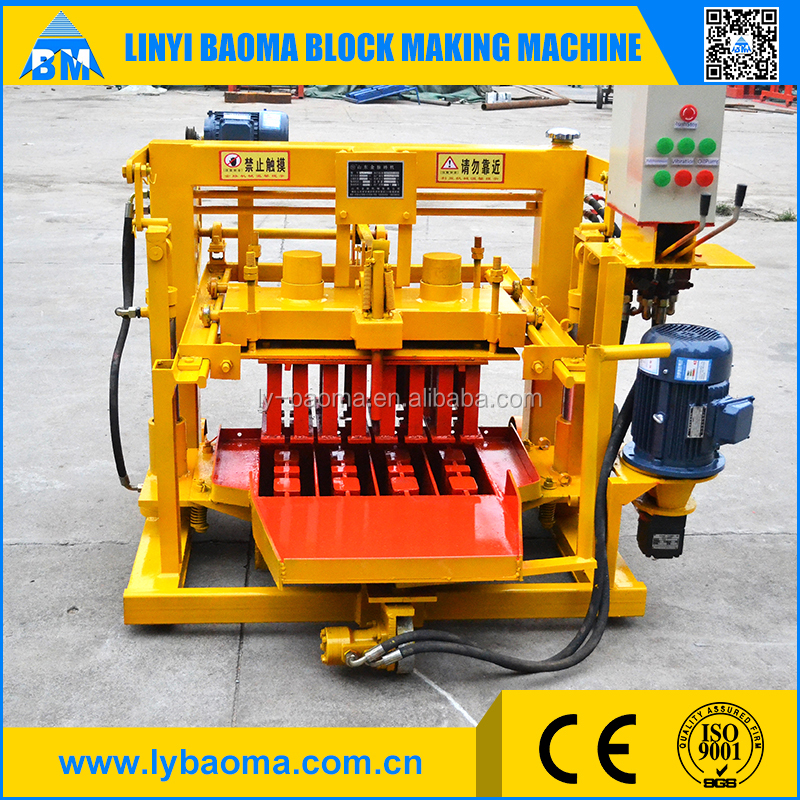 Moving hollow brick making machine QMY4-30 egg layer block machine