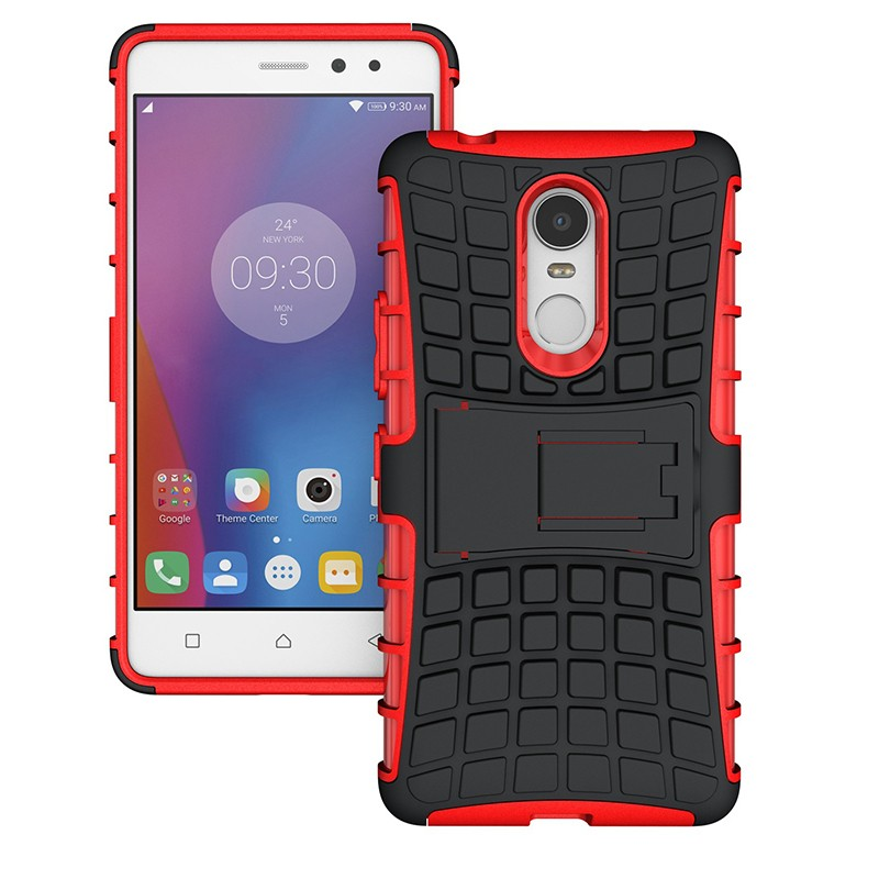 2016 Newest Models <strong>2</strong> in 1 Rugged Rubber Shockproof Stand case cover for Lenovo K6 note --------- Laudtec