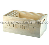 Luxury high quality delicate wholesale cheap popular wood solid pine wood dry fruit christmas gift box packing box