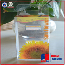 promotion premium high clear pvc printing logo hanger box packaging